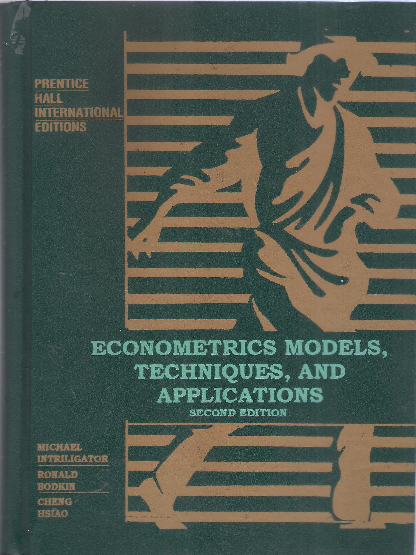 Econometrics Models, Techniques, and Applictions.